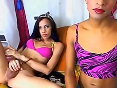 I Caught my Hot Shemale Friends Jerking on Cam