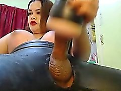 Shebabe fucks her toy until reaches an orgasm