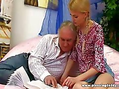 Horny old man fucks young student