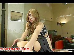Ts Chriselle Fucks a Hot Blond Fast and Hard