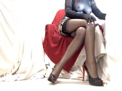 Kinky Crossdresser Cam Show Teasing in Nylons and Heels