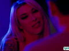 Big tits TS Aubrey Kate licked and analed by handsome guy