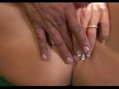 Ass fingering on the billiard table