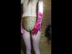 Joys Bikini pants try on haul - skinny, blond and long haired sissy CD teasing and cumming