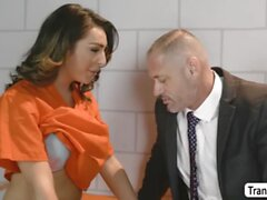 TBabe Chanel Santini let dude fucks her butthole inside the jail