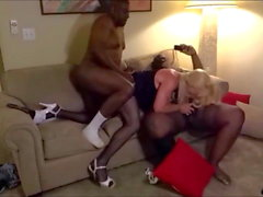 Sissy Gets Plowed By Two BBCs