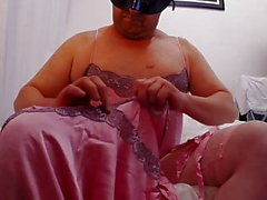 jorgina - 14th nov 2018 - pink sulis silk fapping