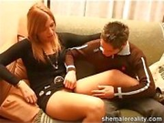Horny guy & shemale copulation