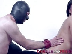 Naughty Bdsm tranny domina gets throated and fucks