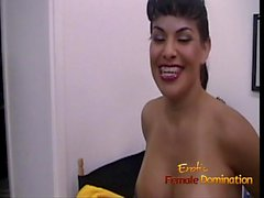 Slutty t-girl Foxxy really liked being a domina in a porno f
