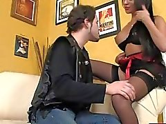 Glamour shemale Mia Isabella fucked guy in his asshole