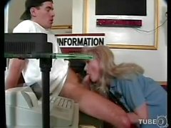 TS cop gets sucking before anal