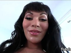 Alluring shemale Mia Isabella sweet ass and cock play