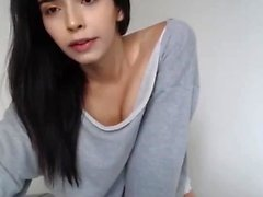 Big dick tranny jacks off in front of webcam