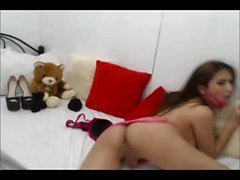 Cute Young transsexual plays with herself