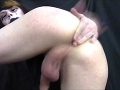 Emo Teen Shemale Dildos Ass & Cums On Feet #15
