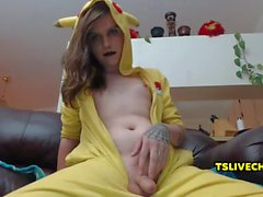 Pikachu Tranny Masturbating for You
